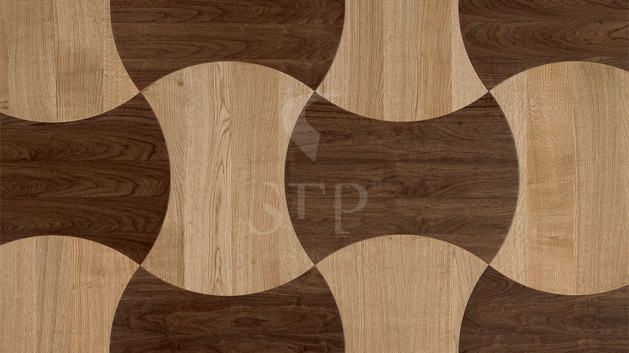 0580x0783 SILHOUETTE OAK NATURAL + WALNUT NATURAL