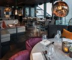 Trendy Restaurant Oslo - Hexagon Oak Black Pearl