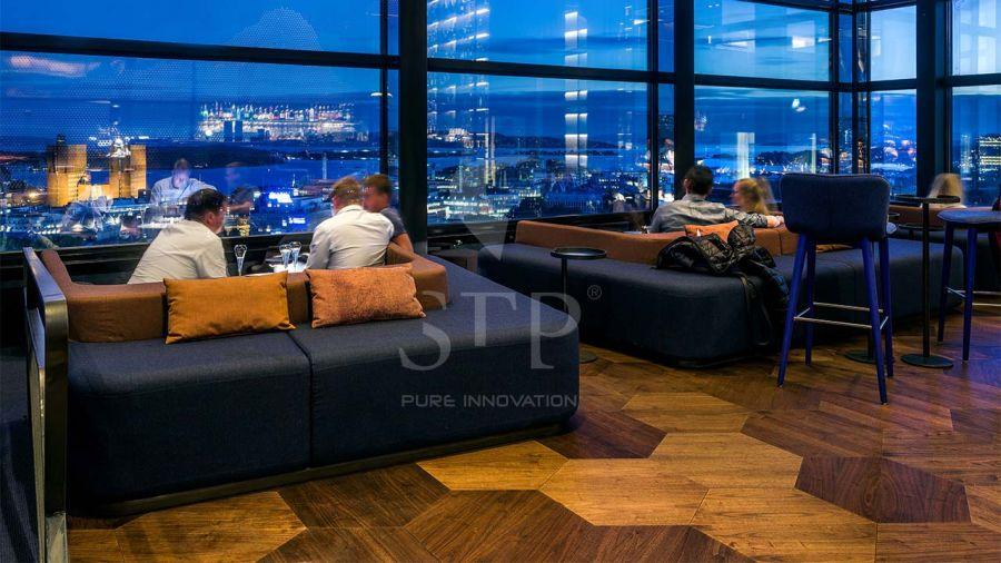 Skybar at Radisson Hotel Oslo - Hexagon A. Walnut Natural