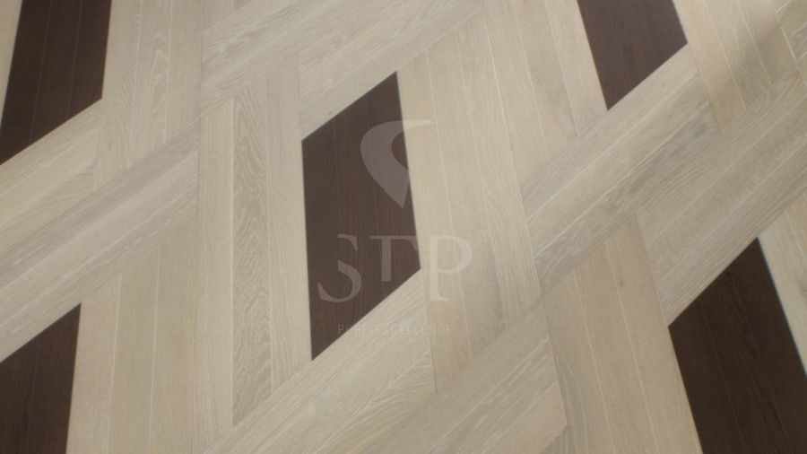 0870X0205 CHEVRON 3-STRIP OAK DEKAPE POLAR + 0580X0205 CHEVRON 3-STRIP OAK ANTICATO